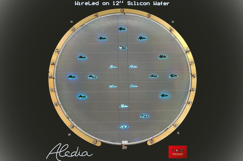 Aledia Has Produced Its First Nanowire Chips on 300mm Silicon Wafers Using CEA-Leti Pilot Lines